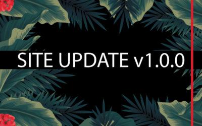 Site Update v.1.0.0